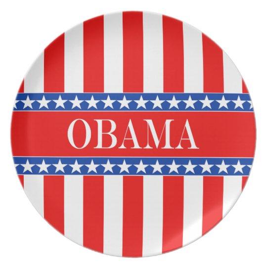 Obama Stars & Stripes Dinner Plate