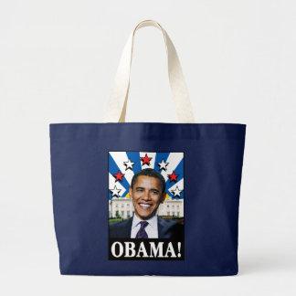 Obama Stars & Stripes Large Tote Bag