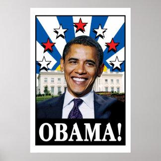 Obama Stars & Stripes Poster