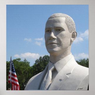 Obama Statue photograph Poster