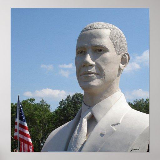 Obama Statue photograph Print