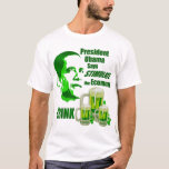 Obama Stimulate the Economy Irish humor T-Shirt