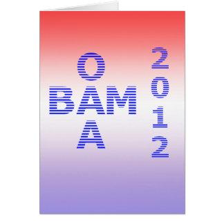 OBAMA Stripes 2012 Card
