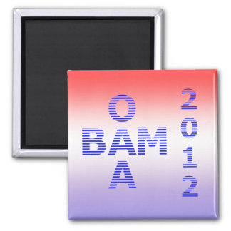 OBAMA Stripes 2012 Magnet