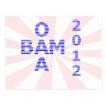 OBAMA Stripes 2012 Post Cards