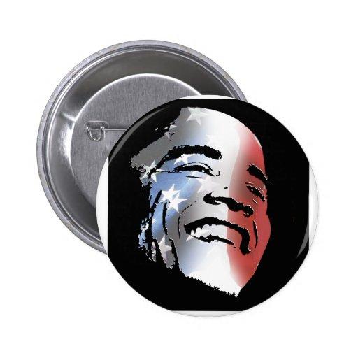 Obama StStripe 3black 2 Inch Round Button
