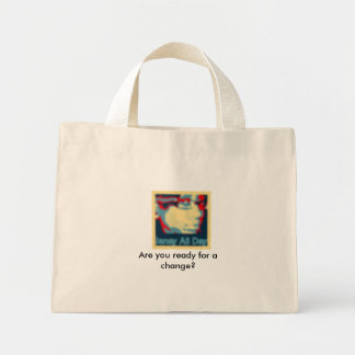 obama style janay Are you ready for a change Canvas Bag
