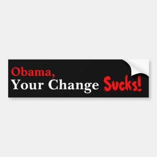 Obama, su cambio chupa pegatina de parachoque