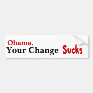 Obama, su cambio chupa etiqueta de parachoque