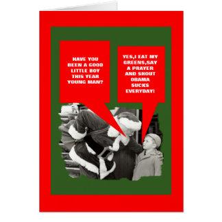 Obama sucks Christmas Greeting Card