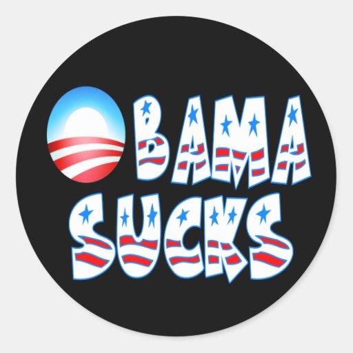 Obama Sucks Classic Round Sticker