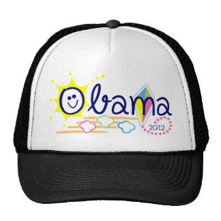 Obama sun and kite trucker hat