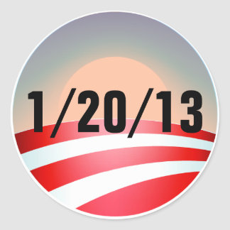 Obama Sunset Classic Round Sticker