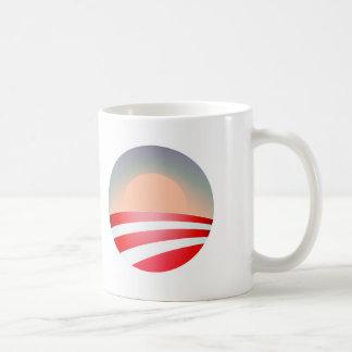 obama sunset, obama sunset, January 20, 2013, T... Classic White Coffee Mug