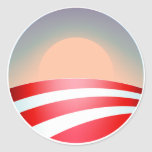 Obama Sunset Round Sticker