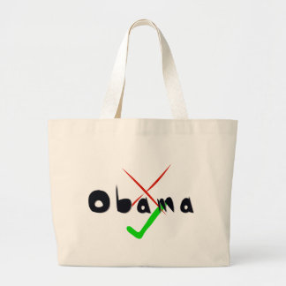 Obama Support - Cross and tick Canvas Bag