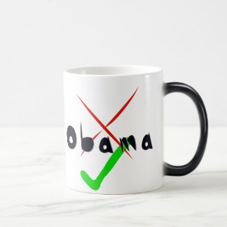 Obama Support - Cross and tick Magic Mug