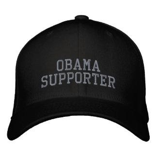 OBAMA SUPPORTER EMBROIDERED BASEBALL HAT