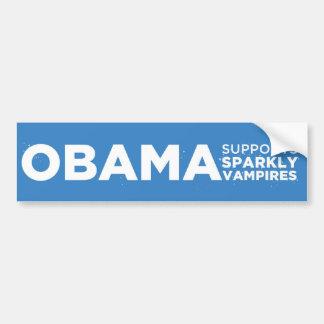 Obama Supports Sparkly Vampires Car Bumper Sticker