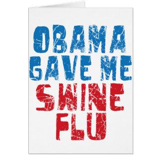 obama swine flu card