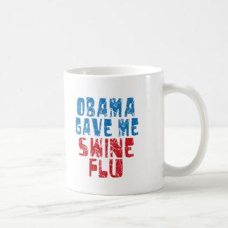 obama swine flu coffee mug