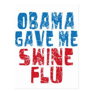 obama swine flu postcard
