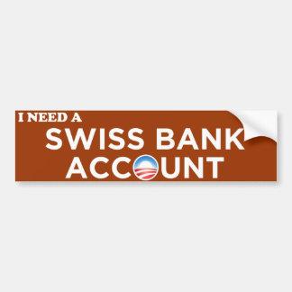 Obama Swiss Bank Account Bumper Sticker