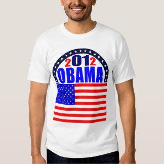 Obama T-Shirt: 2012 Obama - Flag T-Shirt