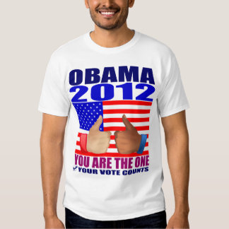 Obama T-Shirt: 2012 Obama - Flag + Thumbs Up T-Shirt