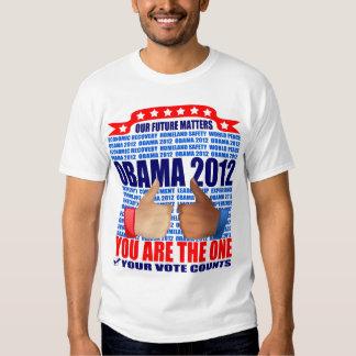 Obama T-Shirt: 2012 Obama - Future Matters/Thumbs T-Shirt