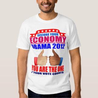 Obama T-Shirt: 2012 Obama - Secure Economy T-Shirt