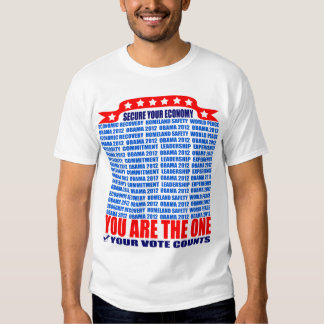 Obama T-Shirt: 2012 Obama - Secure Economy Wall T-Shirt