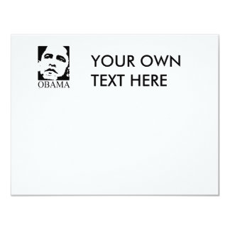 Obama T-shirt 4.25x5.5 Paper Invitation Card