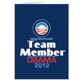 Obama Team Member Card