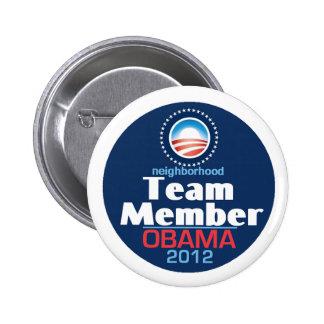 Obama Team Member Pinback Button