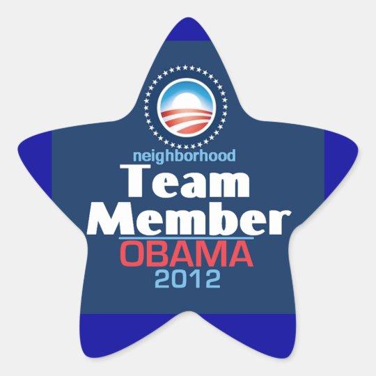 Obama Team Member Star Sticker