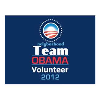 Obama TEAM Postcard