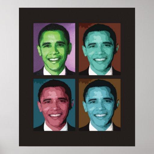 Obama Technicolor Poster
