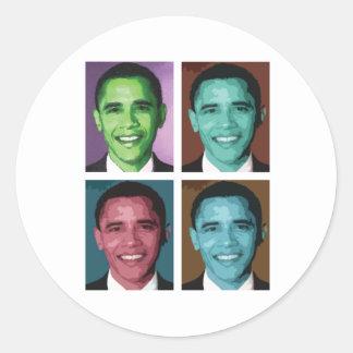 Obama Technicolor Sticker