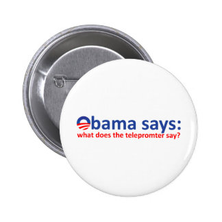 Obama Telepromter Buttons