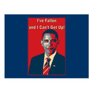"Obama ""tengo"" producto caido tarjeta postal"