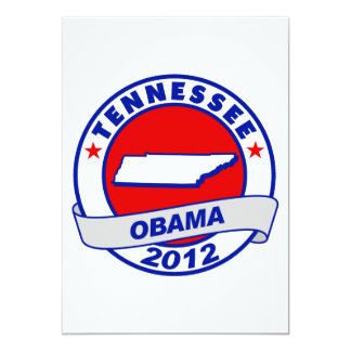 Obama - tennessee 5x7 paper invitation card