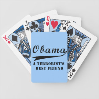 Obama Terrorists best friend Bicycle Playing Cards