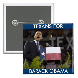 Obama_texas, BARACK OBAMA, TEXANS FOR Button