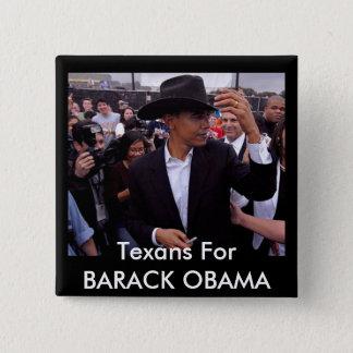 obama texas, Texans For BARACK OBAMA Button