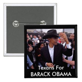 obama texas, Texans For BARACK OBAMA Pins