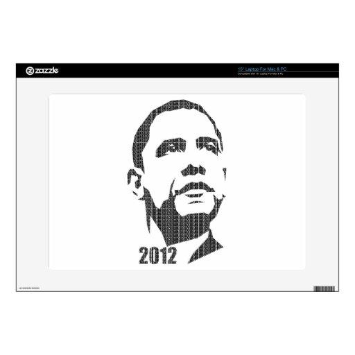Obama Text Design 2012 Laptop Skins