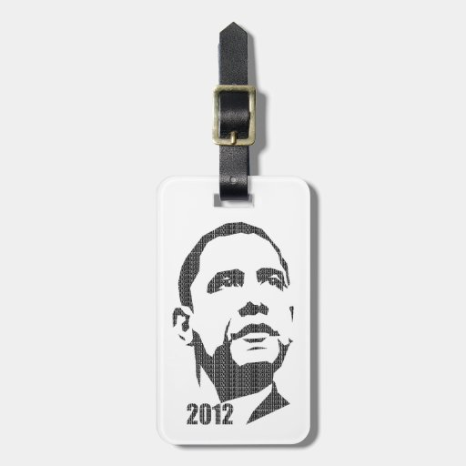 Obama Text Design 2012 Tag For Bags