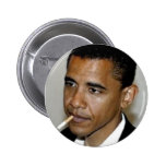 OBAMA, THANK YOU FOR SMOKING PINBACK BUTTONS