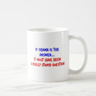 OBAMA THE ANSWER COFFEE MUG